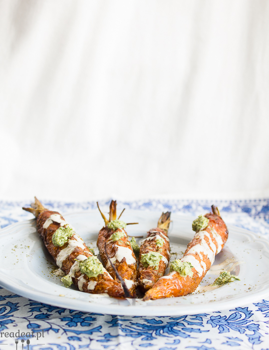 carrost with tahini sauce