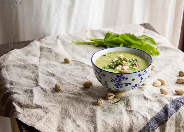 zupa krem z groszku i szczawiu