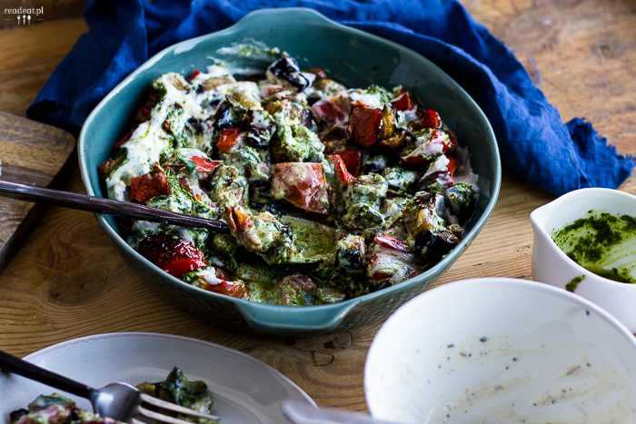 warzywa z oliwą ziołową