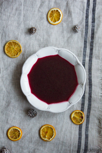 Traditional Polish red borscht