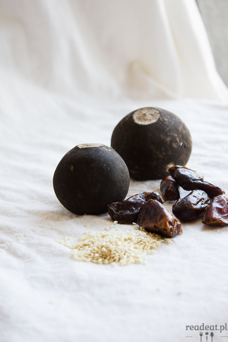 turnips, tahini and dates spread
