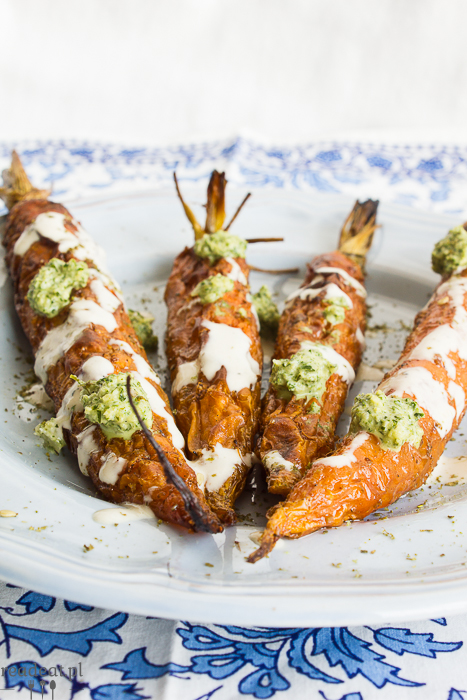 carrot roasted with tahini sauce