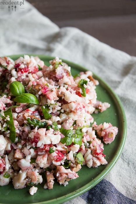 salatka z kalafiora truskawek szczawiu