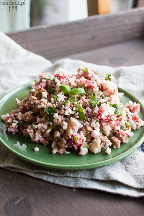 salatka z surowego kalafiora
