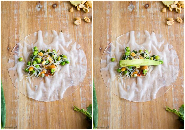 summer rolls with avocado