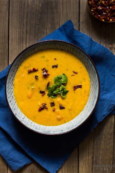 buttnernut squash soup with miso and coconut milk