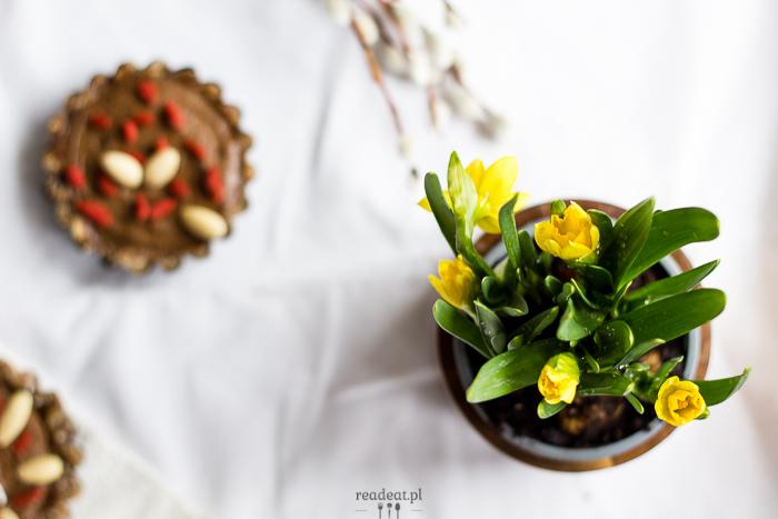 surowy mazurek z awokado