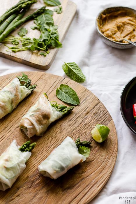 asparagus sprong rolls