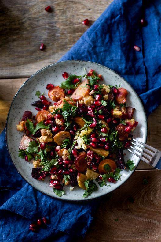 pieczone warzywa korzeniowe