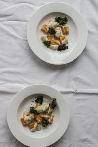 Gnocchi z batatem i sosem z migdałów