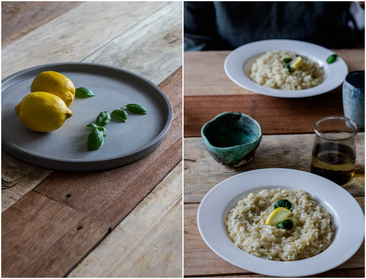 lemon risotto with basil